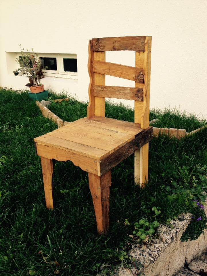 wooden pallet rustic chair