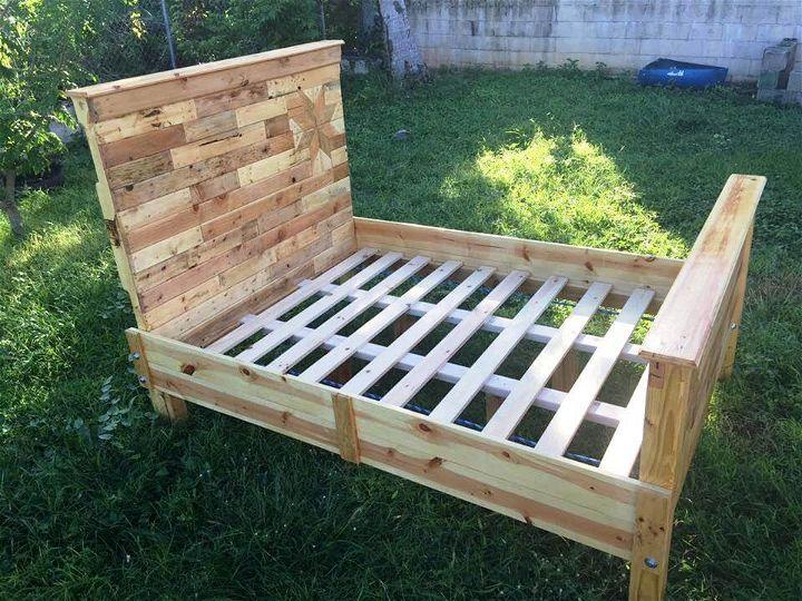 handmade pallet bed frame